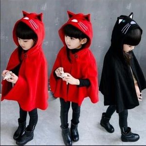 Red Kitty Cape/Coat for Girl